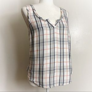 Anthropologie E By Eloise Soft Flannel Style Tank